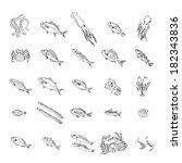 fish   Shutterstock .eps vector #182343836