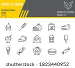sweets line icon set  desserts... | Shutterstock .eps vector #1823440952