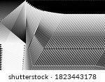 abstract halftone lines... | Shutterstock .eps vector #1823443178