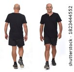 front and back view of  man... | Shutterstock . vector #1823444552