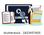 online courses lesson for... | Shutterstock .eps vector #1823457605