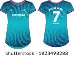 women sports t shirt jersey... | Shutterstock .eps vector #1823498288