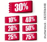price tag labels  red discount... | Shutterstock .eps vector #1823506448