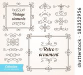set of vintage ornate frames... | Shutterstock .eps vector #182352956