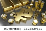 ruble stands out from other... | Shutterstock . vector #1823539832