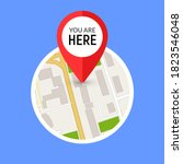 you are here street map gps... | Shutterstock .eps vector #1823546048