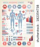 medical infographics elements.... | Shutterstock .eps vector #182354738