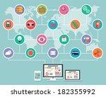 flat design  infographic...   Shutterstock .eps vector #182355992