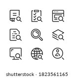 search line icons set. modern... | Shutterstock .eps vector #1823561165