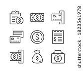 payment line icons. money... | Shutterstock .eps vector #1823561978