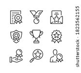 award line icons. trophy ... | Shutterstock .eps vector #1823562155