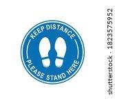 keep distance 1 vector logo... | Shutterstock .eps vector #1823575952