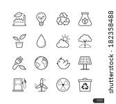 eco energy icons set   vector... | Shutterstock .eps vector #182358488