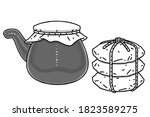 korean traditional boiling pot... | Shutterstock .eps vector #1823589275