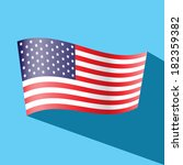 america flag vector icon | Shutterstock .eps vector #182359382
