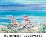 Beach Chair On The Shore....