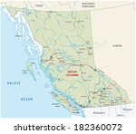 british columbia road map | Shutterstock .eps vector #182360072
