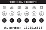 photographic icons set.... | Shutterstock .eps vector #1823616515
