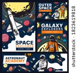 astronaut academy  space and... | Shutterstock .eps vector #1823619818