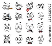 face expression isolated vector ...   Shutterstock .eps vector #1823620022
