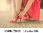 red color and legs  | Shutterstock . vector #182362406