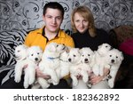dog breeders are holding eight... | Shutterstock . vector #182362892