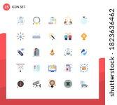 set of 25 vector flat colors on ...   Shutterstock .eps vector #1823636462
