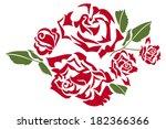 roses | Shutterstock .eps vector #182366366