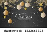 realistic design christmas... | Shutterstock .eps vector #1823668925