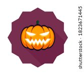 halloween pumpkin  scary or... | Shutterstock .eps vector #1823671445