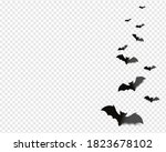 Black Bats Isolated Transparent ...