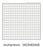 squared manuscript icon paper... | Shutterstock .eps vector #1823682668