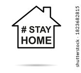 stay home icon  house symbol ...   Shutterstock .eps vector #1823682815