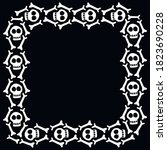 Square Frame With Skulls And...