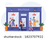 women in boutique concept with... | Shutterstock .eps vector #1823707922