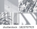 shadow of foliage and blinds on ... | Shutterstock .eps vector #1823707925