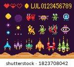 retro 8 bit pixel arcade...   Shutterstock .eps vector #1823708042