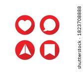 social media icon like  comment ...   Shutterstock .eps vector #1823708888