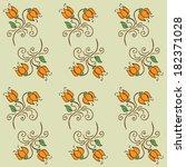 floral seamless pattern. vector ... | Shutterstock .eps vector #182371028