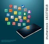 illustration of a modern mobile ... | Shutterstock .eps vector #182373818
