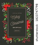 christmas sale flyer  holiday... | Shutterstock .eps vector #1823747798