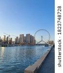 Small photo of 26 December 2019,Tianjin,China : Tianjin eye or Tianjin ferris wheel, landmark in Tianjin city