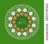 green diwali. concept design.... | Shutterstock .eps vector #1823749262
