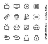 simple set of tv related vector ... | Shutterstock .eps vector #182375852