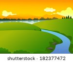beautiful green nature with... | Shutterstock .eps vector #182377472