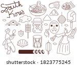 set of doodles korea element... | Shutterstock .eps vector #1823775245