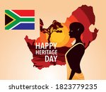 happy heritage day with person... | Shutterstock .eps vector #1823779235