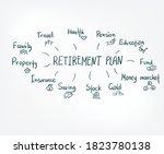 retirement plan vector sign... | Shutterstock .eps vector #1823780138