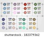 timeline infographic. vector... | Shutterstock .eps vector #182379362