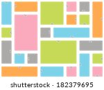 blank advertising coupons.... | Shutterstock .eps vector #182379695